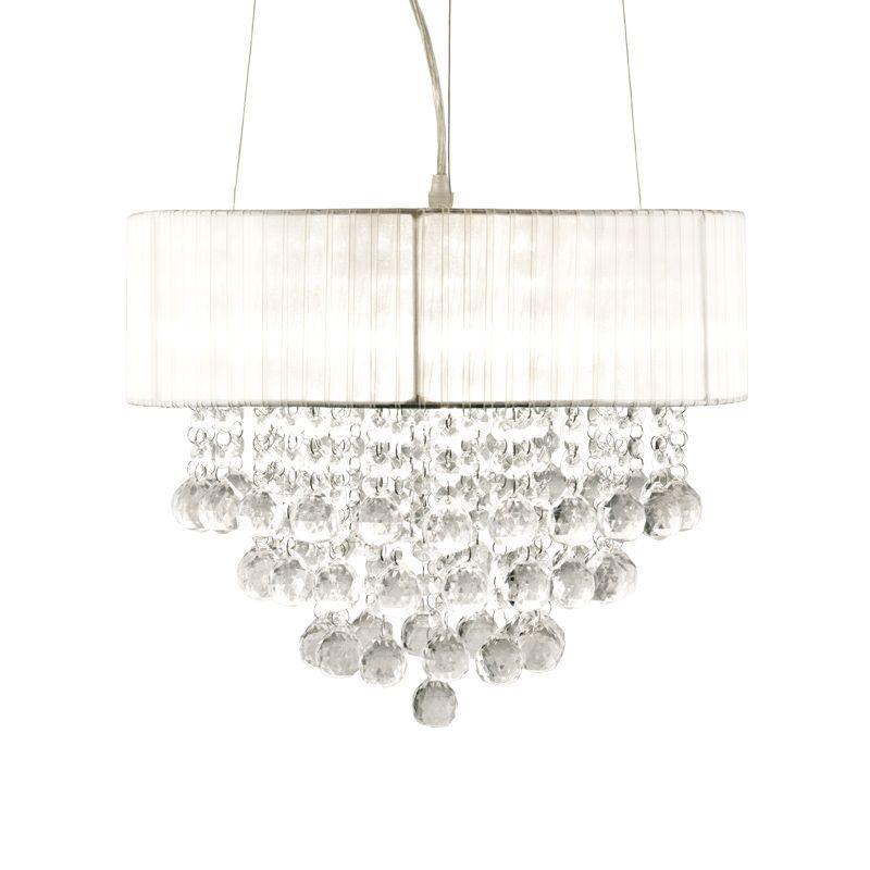 Madelene Hvit/Krystall Taklampe Aneta