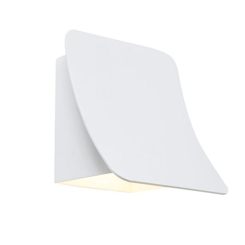Bend Hvit LED IP54 Vegglampe Belid