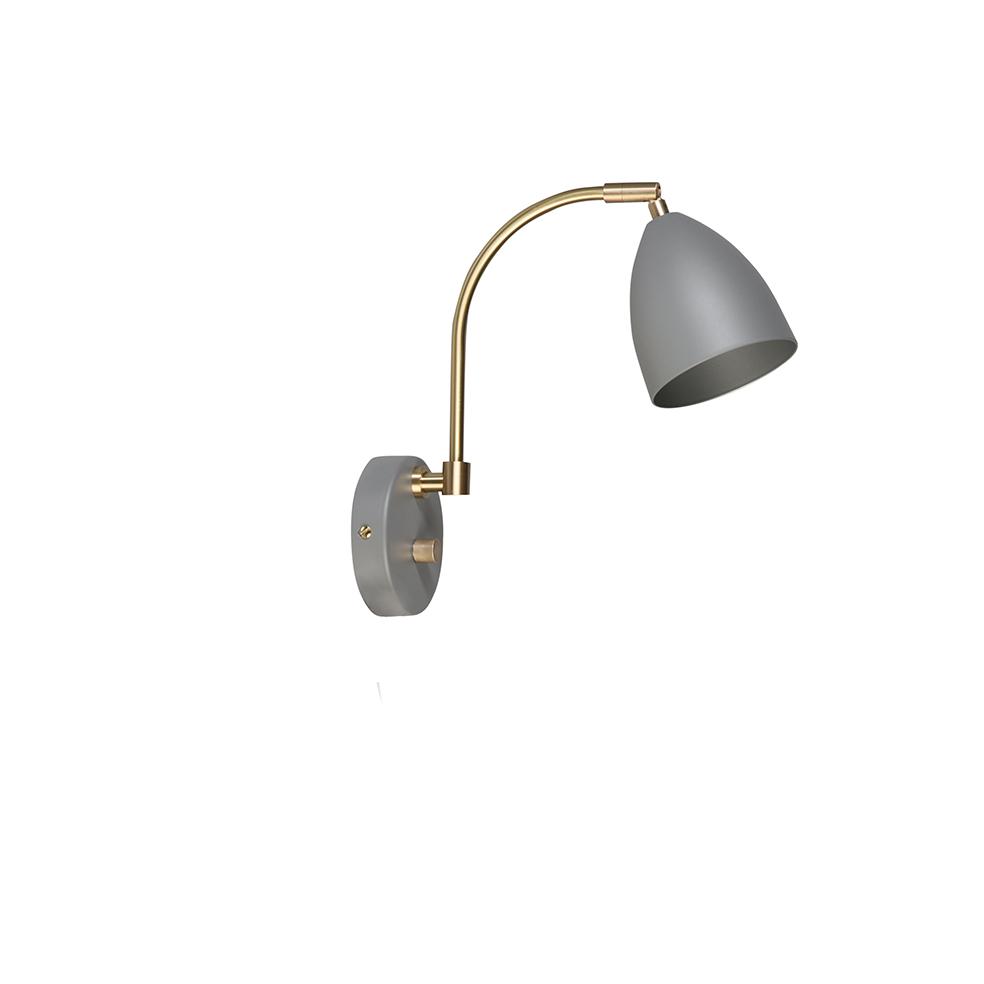 Deluxe Hvit/Grå Vegglampe Led Belid