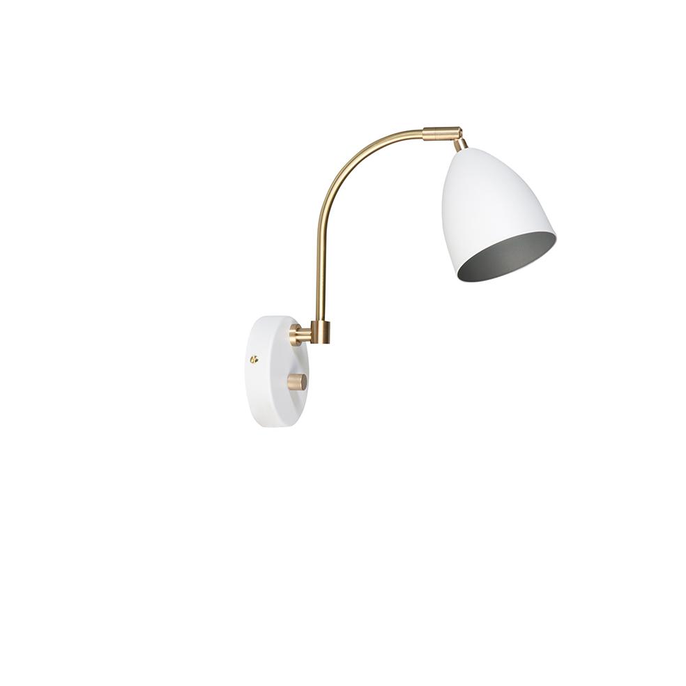 Deluxe Hvit/Messing Vegglampe Led Belid