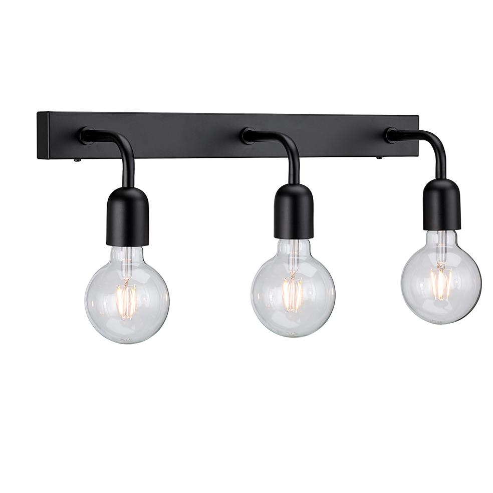 Regal Svart 3:a IP21 Vegglampe Belid