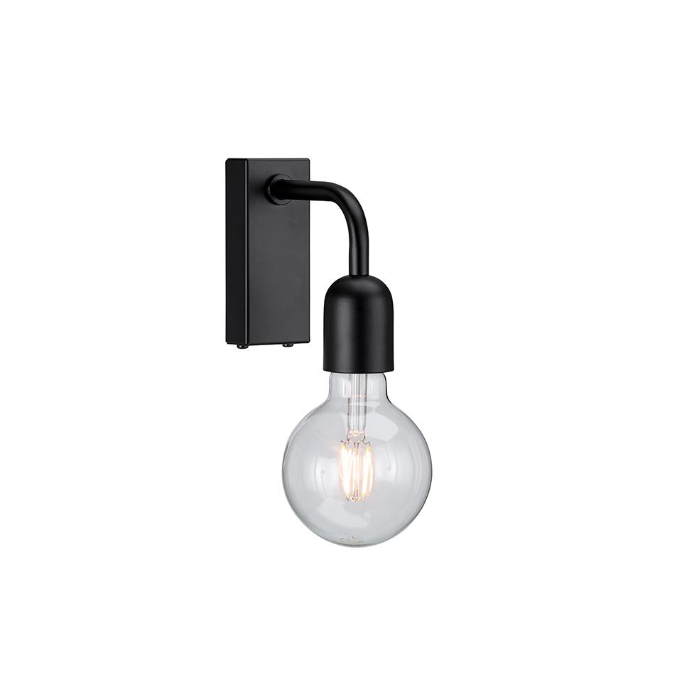 Regal Svart IP21 Vegglampe Belid