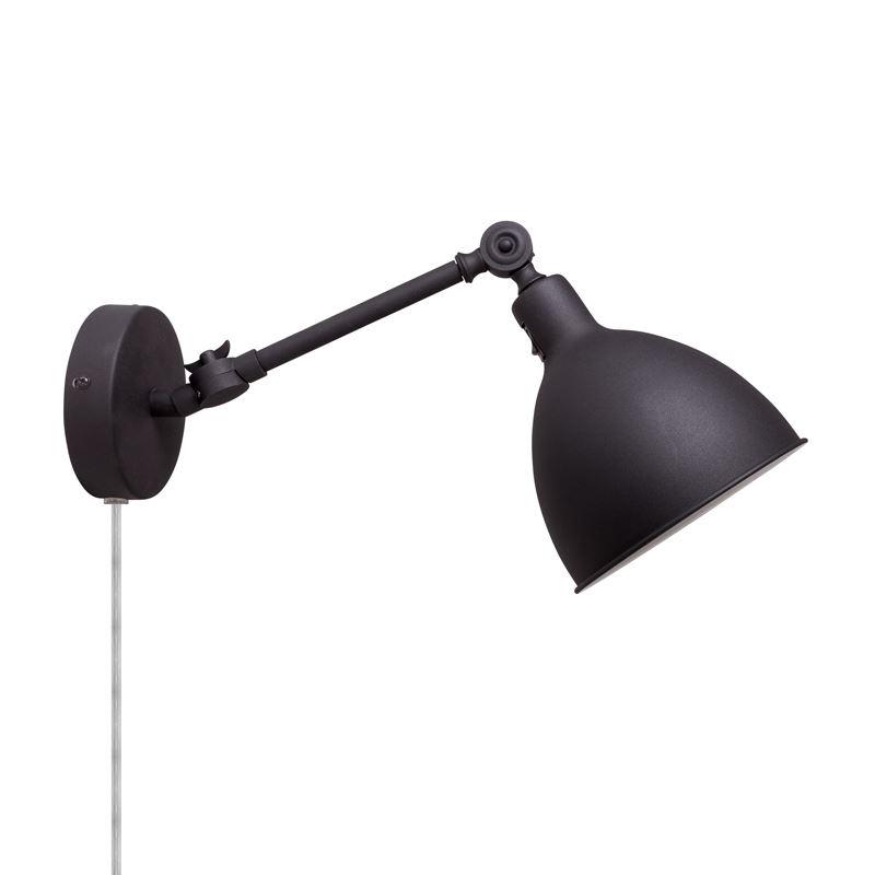 Bazar Mini Svart Vegglampe By Rydens