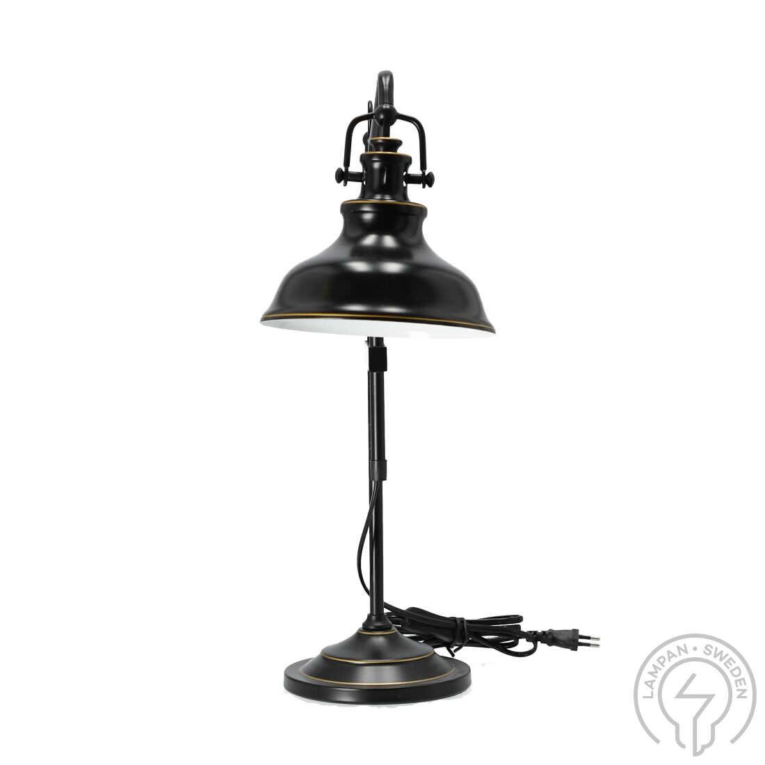 New Haven Antikksvart Bordlampe