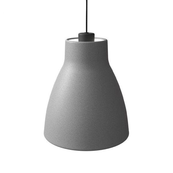 Gong Taklampe 25cm Betong/Svart