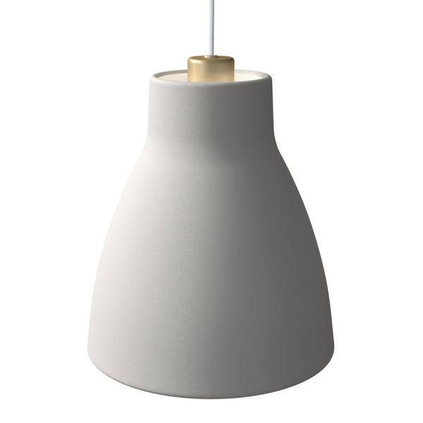 Gong Taklampe 25cm Hvit/Gull