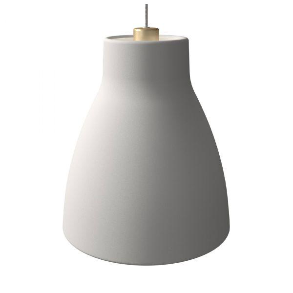 Gong Taklampe 32cm Hvit/Gull