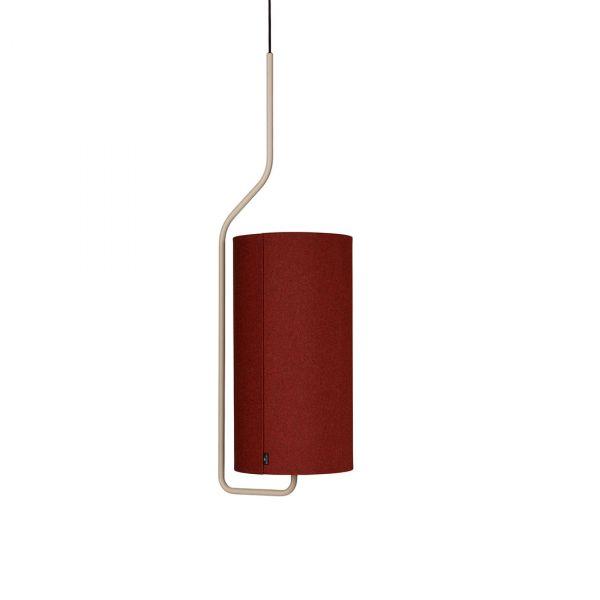 Pensile Taklampe Sandfarget/Rød 100cm