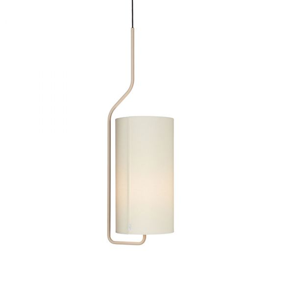 Pensile Taklampe Sandfarget/Hvit 100cm