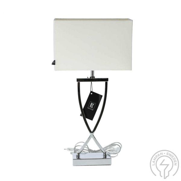 Omega Hvit/Krom 52 cm Bordlampe
