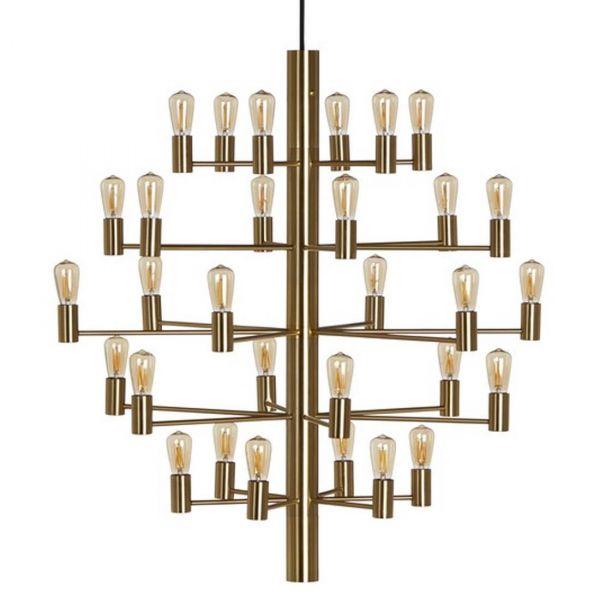 Manola Krone 30-arm Satin Brass Taklampe