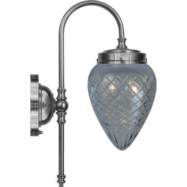 Blomberg Nikkel/Slipt Glass Ip24 Vegglampe