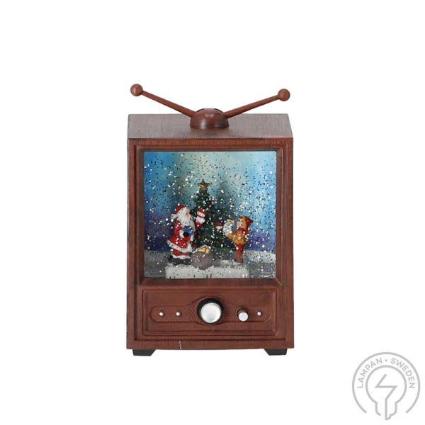 Vannfylt TV Gutt Og Juletre Batteri