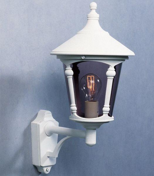 Virgo Hvit Opp Utevegglampe