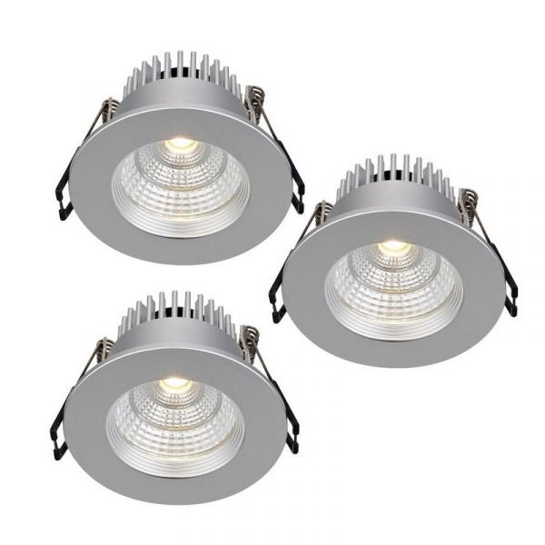 Ares Sølv Led/Dimbar 3-P Ip44 Downlight