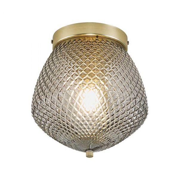 Orbiform Smoky Ceiling Lamp