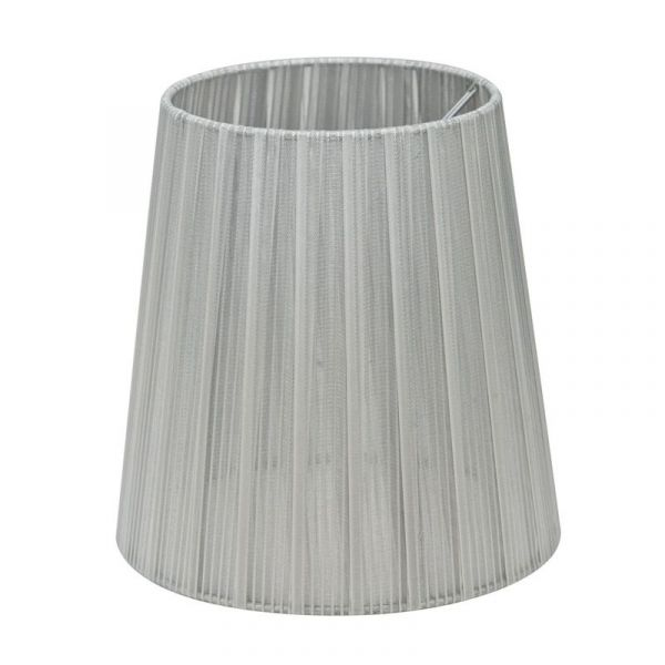 Skjerm Organza 17 cm Sølv