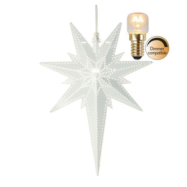 Bethlehem Hvit 35cm Inkl. Lyskilde Metallstjerne