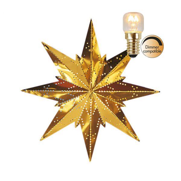 Star Mini Messing 25cm Inkl. Lyskilde