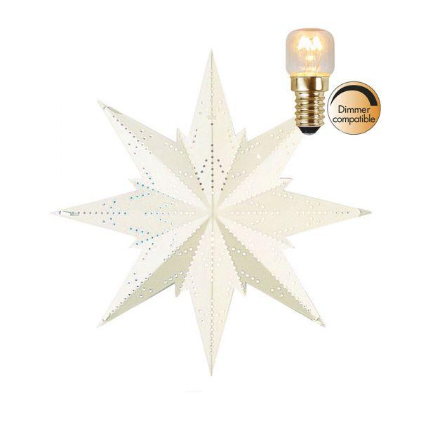 Star Mini White 25cm Inkl. Lyskilde