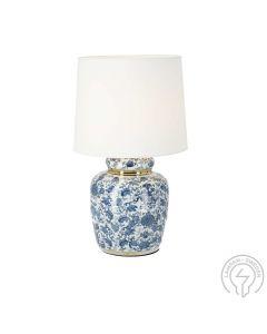 Klassisk Blå 44cm Bordslampa från Cottex