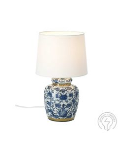 Klassisk Mini Blå 30cm Bordslampa från Cottex