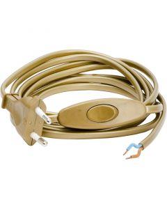 Armatursladd Guld 2.5M Med Brytare från Gelia