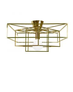 Cube Mässing Plafond från Globen Lighting