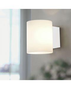 Evoke Glas Vit/Vit Vägglampa från Herstal