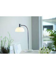 Vienda Vit/Glas Bord Läslampa från Herstal