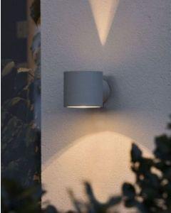 Modena Grå Round Vägglampa från Konstsmide