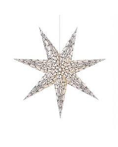 Karla Vit/Svart 75cm Julstjärna från Markslöjd