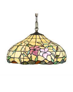 Hibiskus Tiffany 40Cm Taklampa från Nostalgia
