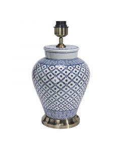 Fang Hong Blå/Vit 38Cm Lampfot från Pr Home