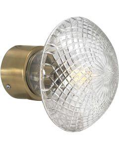 Juliette Mässing/Klar 16cm Vägglampa från Pr Home