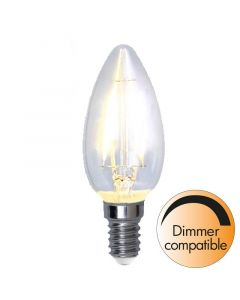 Kron E14 4,2W Filament Dimbar Led från Star Trading