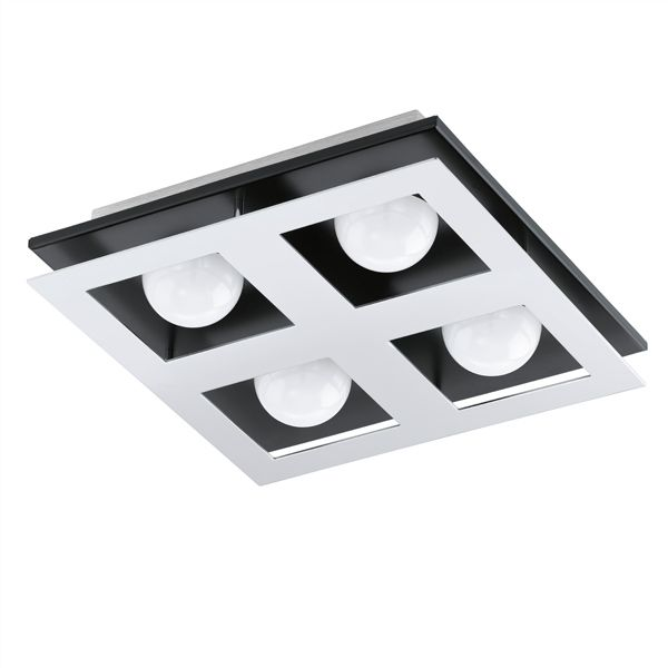 Bellamonte Alu/Svart 27cm LED Plafond Eglo