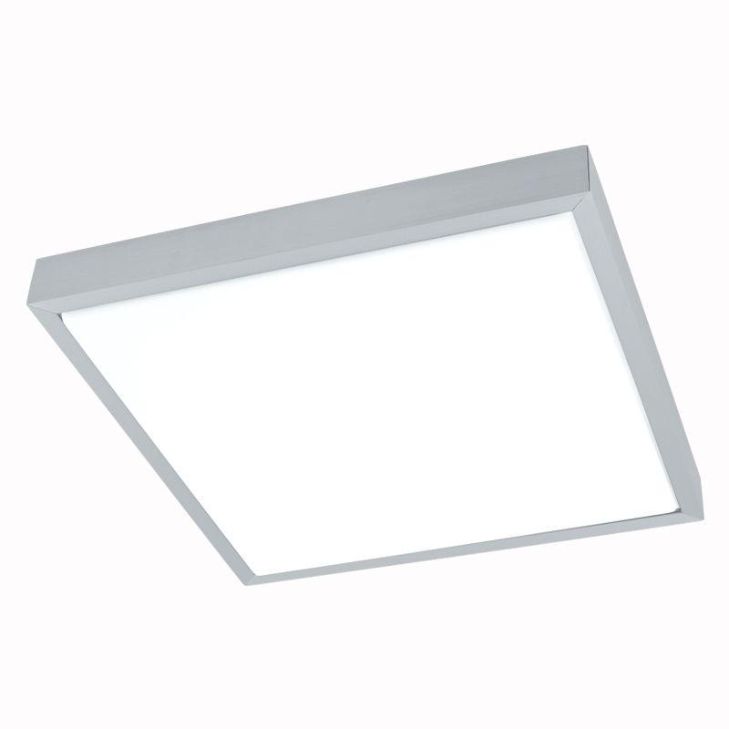 Idun Alu/Hvit 38 cm Led Plafond Eglo