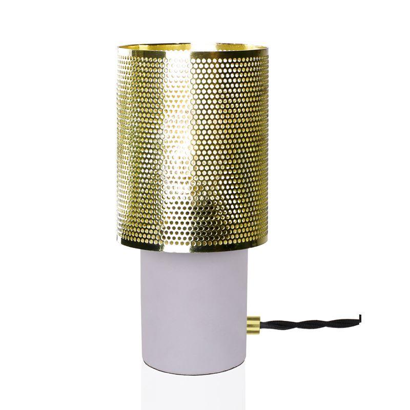 Rumble Betong/Messing Bordlampe Globen Lighting