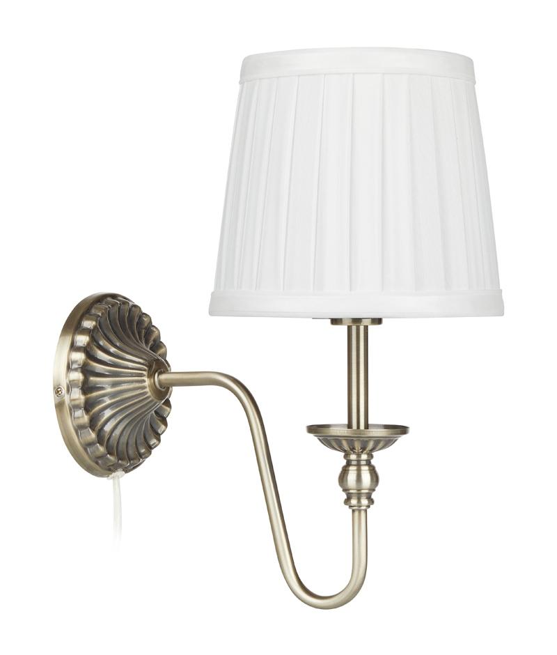 Bloomsbury Antikk/Hvit Vegglampe Markslöjd