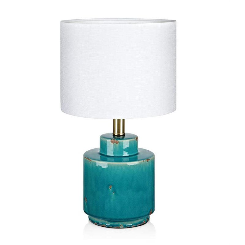 Cous Antikkblå Bordlampe Markslöjd