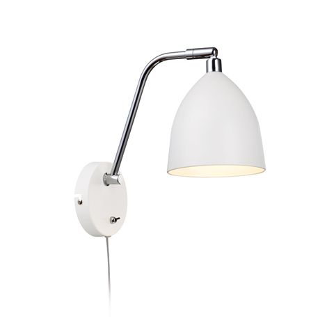 Fredrikshamn Hvit Vegglampe Markslöjd