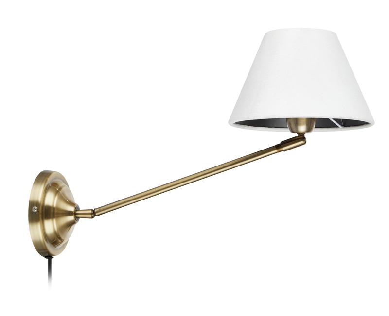 Garda Antikk/Hvit Vegglampe Markslöjd