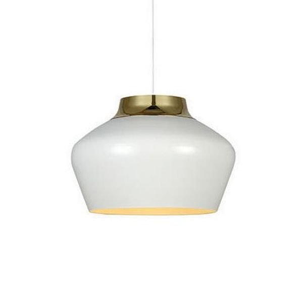 Kom Hvit/Messing Taklampe Markslöjd