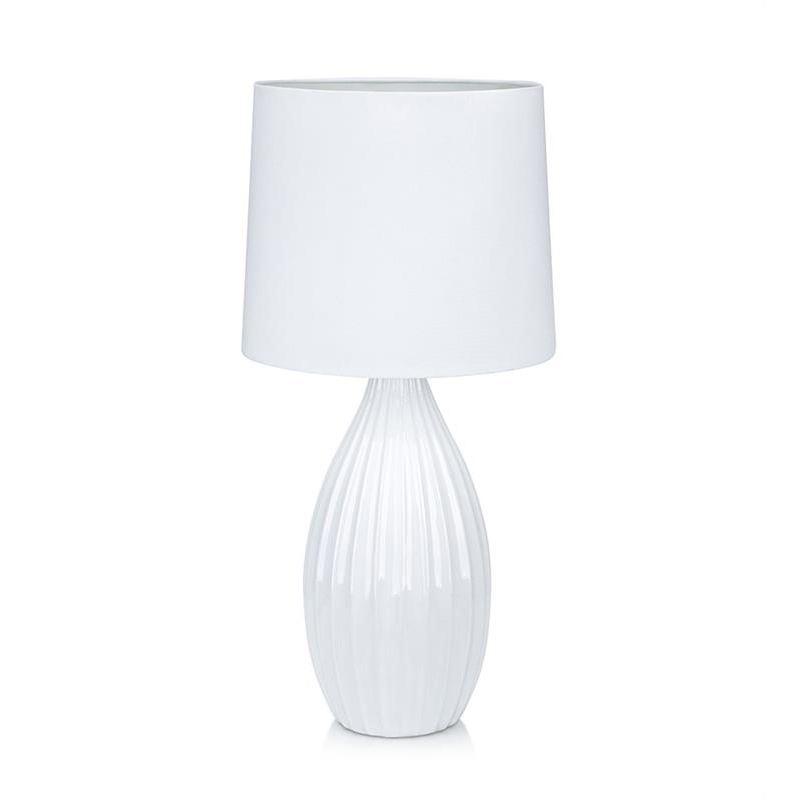 Stephanie Hvit Bordlampe Markslöjd