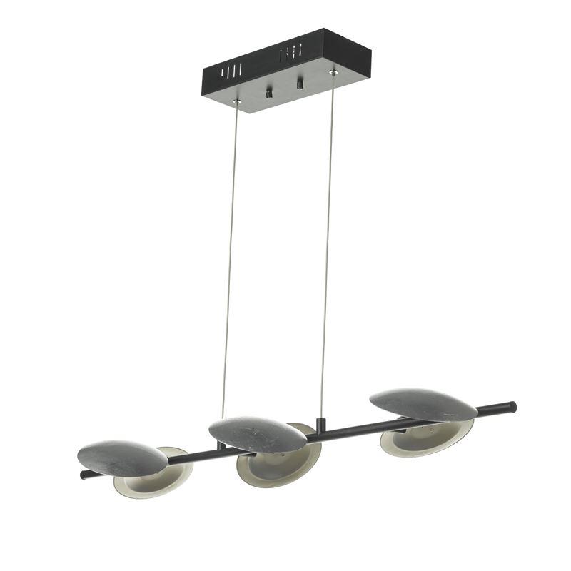 Uplight LED Svart/Stål Taklampe Oriva