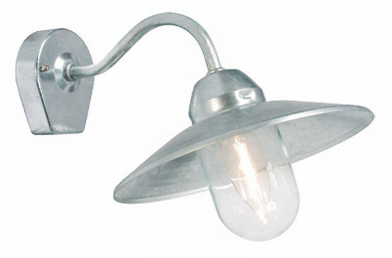 Stall Galv/Klar Utevegglampe Westal