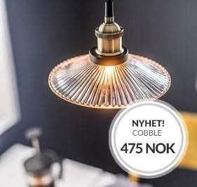 NYHET Vinduslampe Cobble fra Cottex