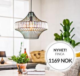 NYHET Taklampe Finca fra Cottex