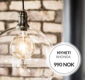 NYHET Rhonda Taklampe fra Cottex